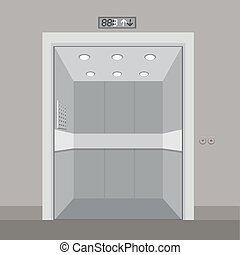 Elevator design over gray background, vector illustration