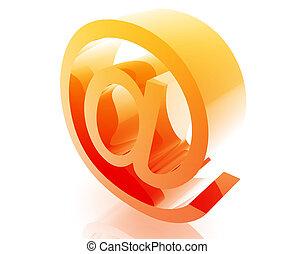 At symbol internet - The At internet symbol illustration...