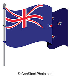 New zealand design over white background, vector...