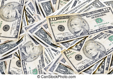 Repitition and rotation of a small pile of bills