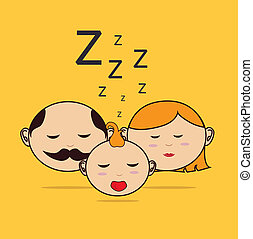 Good night design over yellow background, vector...