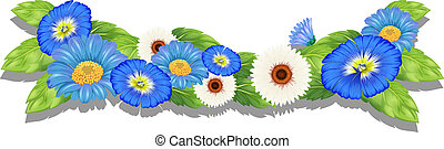 Blooming flowers - Illustration of the blooming flowers on a...