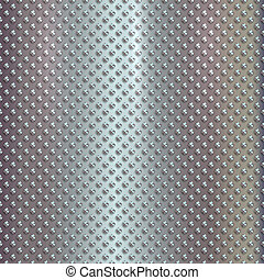 Vector silver grille on steel background - Vector silver...