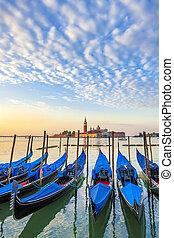 San Giorgio Maggiore church and gondolas in Venice