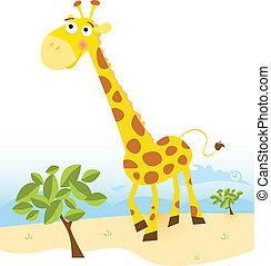 Giraffe - Vector Illustration of funny animal. See similar...