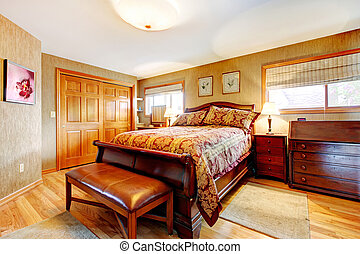 Rich bedroom wtih antique furniture set - Rich bedroom with...