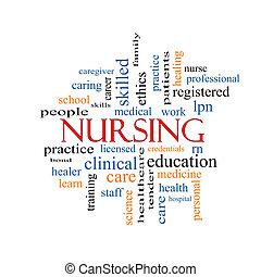 Nursing Word Cloud Concept with great terms such as...