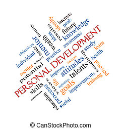 Personal Development Word Cloud Concept Angled - Personal...