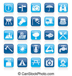 Camping and tourism icons