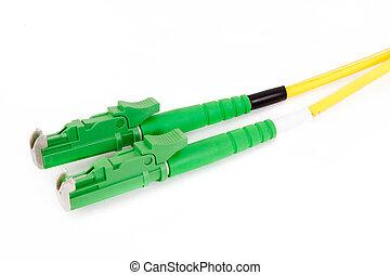 green fiber optic E2000 connector
