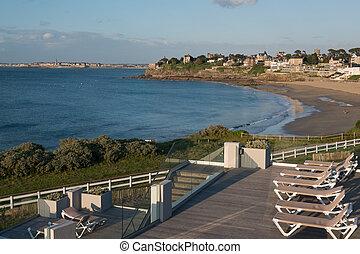 Dinard, Brittany - Dinard panorama, famous holiday...