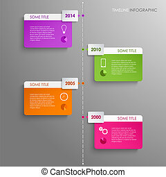 Time line info graphic template background vector eps 10