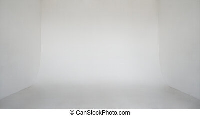 Clear light white wall empty photo studio cyclorama...