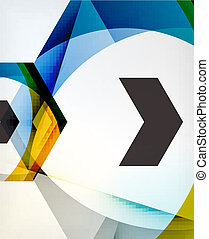 Arrow Geometric Shape Abstract Business Background. Graphic...