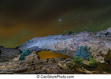 Mesa Arch at Night - Canyonlands Mesa Arch at Night - Moab...