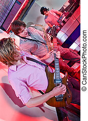 Guitar, Sax and DJ - Live act in a club with a saxophonist,...