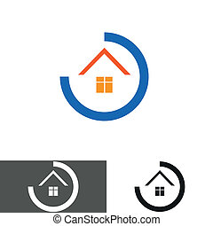 house, home logo, icon