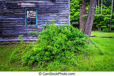 Old house at  Millbrook Village, at Delaware Water Gap National
