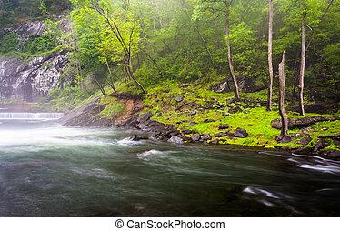 Cascades on the Gunpowder River near Prettyboy Reservoir in...