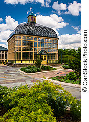 Gardens and the Howard Peters Rawlings Conservatory in Druid...