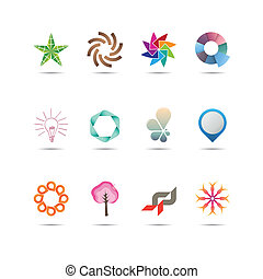 Abstract Icon Set - Collection of twelve creative and...