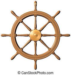 bateau, roue