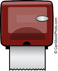 PAPER TOWEL DISPENSER - Plastic Wall-Mounted Paper Dispenser