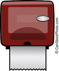 PAPER TOWEL DISPENSER - Plastic Wall-Mounted Paper Dispenser
