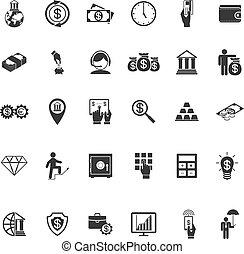 Large set of money banking and finance icons - Large set of...