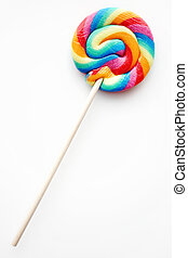 Rainbow Colored Lollipop