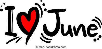 June love - Creative design of june love