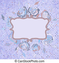 Ornate vector frame. And also includes EPS 8