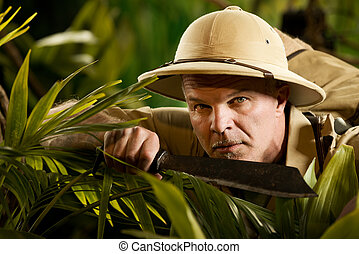 Surviving in the jungle - Survival confident adventurer...