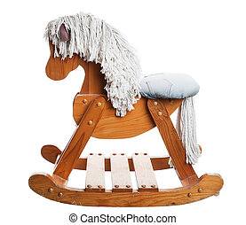 Childhood Rocking Horse - A vintage, childhood rocking horse...