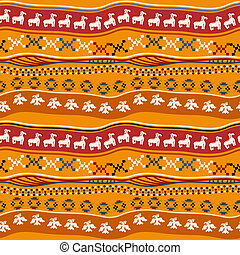 Seamless pattern with Mexican texture