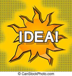 Cartoon illustration of idea