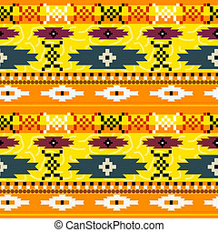 Seamless texture with Mexican pattern