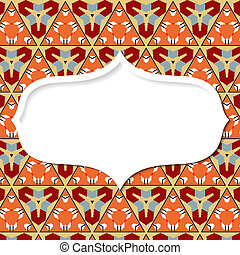 Frame in the Mexican style on the background with geometric patt