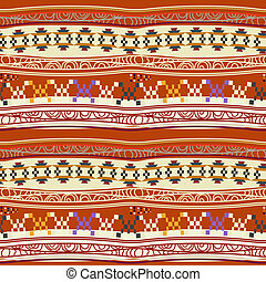 Seamless texture with abstract Mexican pattern