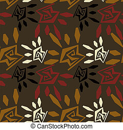 Abstract seamless texture in tribal style