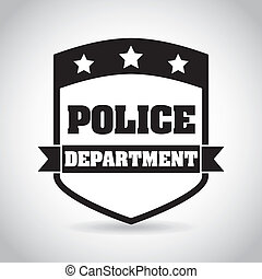 Police design over white background, vector illustration