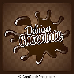 Chocolate design over brown background, vector illustration