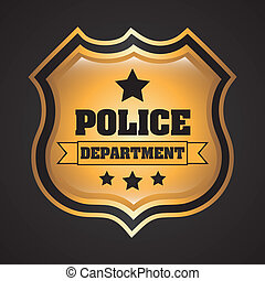 Police design over black background, vector illustration
