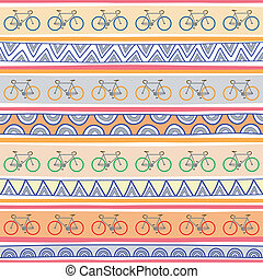 Seamless bicycle pattern background