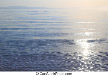 Sea calm water with horizon