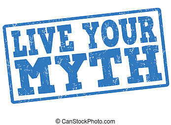 Live your myth stamp