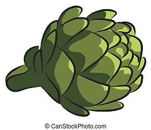 Artichoke - Fresh Artichoke isolated on white