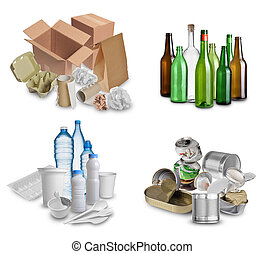 trash for recycling - Samples of trash for recycling...