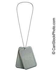 Blank Identity Dog Tags Hanging - A regular set of blank...