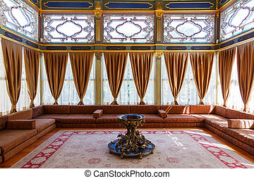 Sofa Kiosk in the Topkapi palace, Istanbul, Turkey